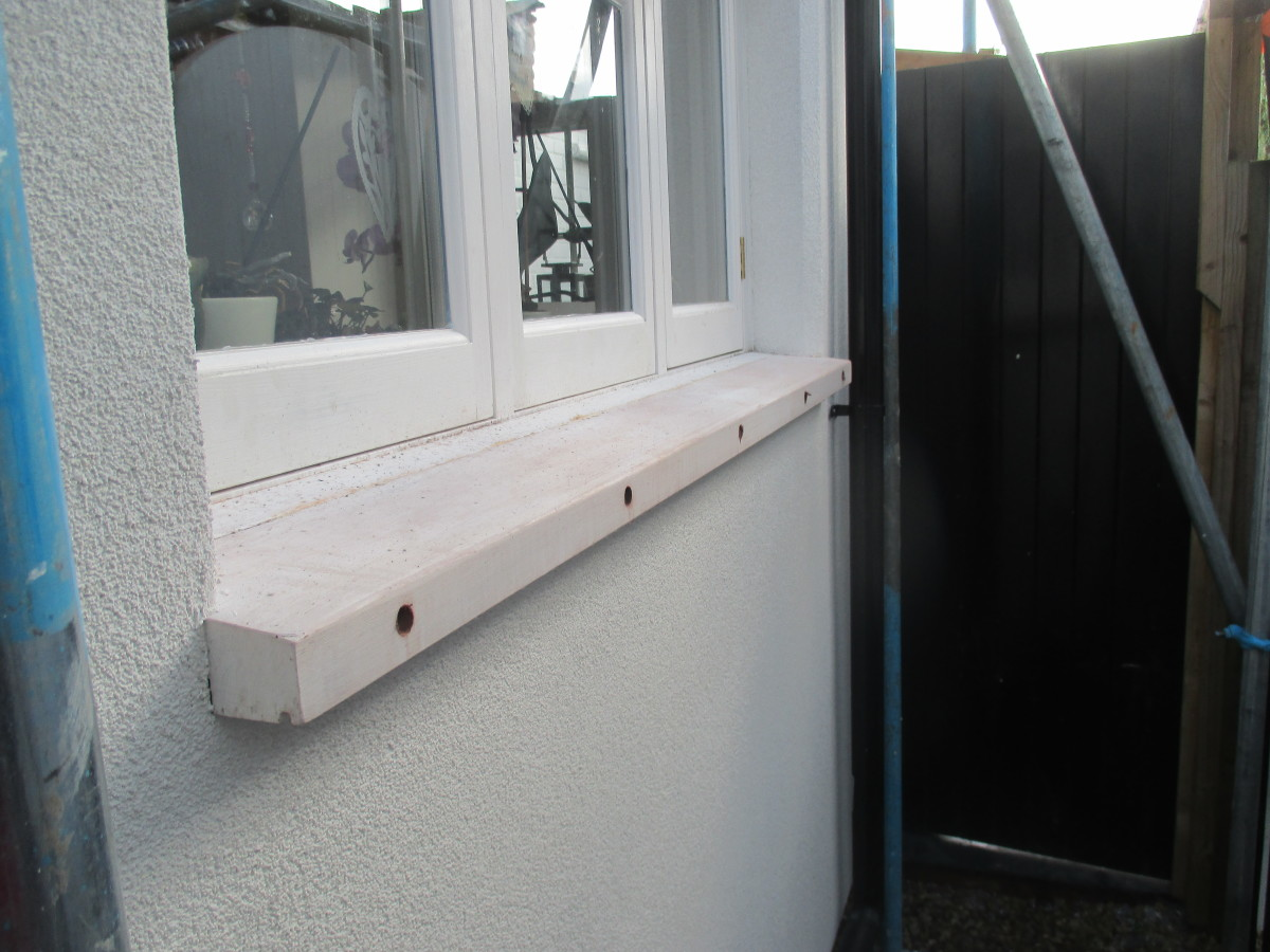 Window Sills On An External Insulation Job