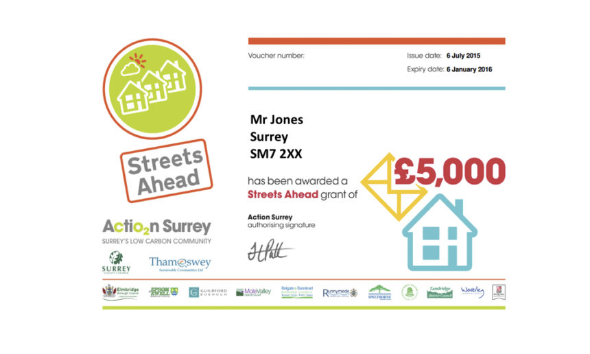 £5,000 grant for solid wall insulation with Action Surrey