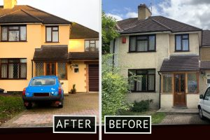 external wall insulation before amd after esher